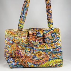 VTG Victoria Paisley Quilted Boho Bag